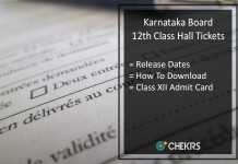 Karnataka 12th Hall Ticket, Karnataka Board PUC 2nd Year Admit Card Release Date