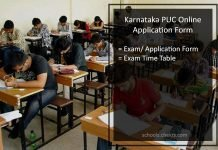 Karnataka State PUC Application Form - Register @pue.kar.nic.in