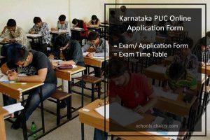 Karnataka State PUC Application Form - Register @pue.kar.nic.in