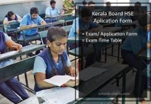 Kerala HSE Exam Application Form, Class12th Registration