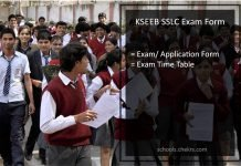 KSEEB SSLC Exam Form, Karnataka Board 10th Application