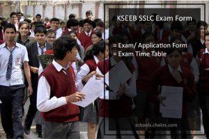 KSEEB SSLC Exam Form, Karnataka Board 10th Application