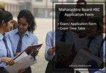 Maharashtra State Board HSC Application Form, MSBSHSE