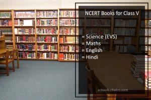 NCERT Books for Class 5- Science (EVS). Maths, English, Hindi, PDF