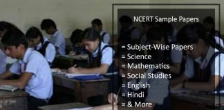 NCERT Sample Papers - For Class 9, 10, 11, 12 of Science, Maths etc.
