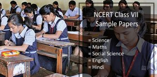 NCERT Sample Papers Class 7- Science, Maths, SST, English, Hindi