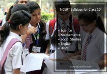 NCERT Syllabus for Class 10 - Science, Maths, Social Studies, English