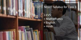 NCERT Syllabus for Class 3 - Maths, EVS, English, Hindi, Download PDF