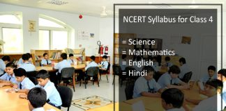 NCERT Syllabus for Class 4 - English, Hindi, Science, EVS, Maths