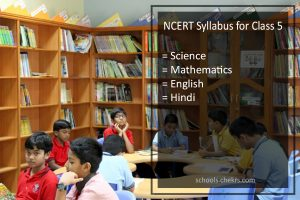 NCERT Syllabus for Class 5 - Science, Hindi, English, Maths