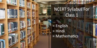 NCERT Syllabus For Class 1 - English, Hindi, Mathematics (Maths)