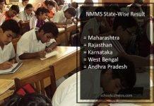 NMMS State-Wise Result - Maharashtra, Rajasthan, Tamil Nadu