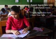 Punjab Board 12th Examination Form - Register @pseb.ac.in