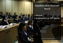 Rajasthan BSTC Result - Merit List, Cut Off Marks (Expected)