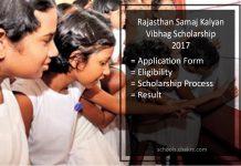 Rajasthan Samaj Kalyan Vibhag Scholarship - Application Form