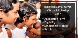 Rajasthan Samaj Kalyan Vibhag Scholarship - Application Form
