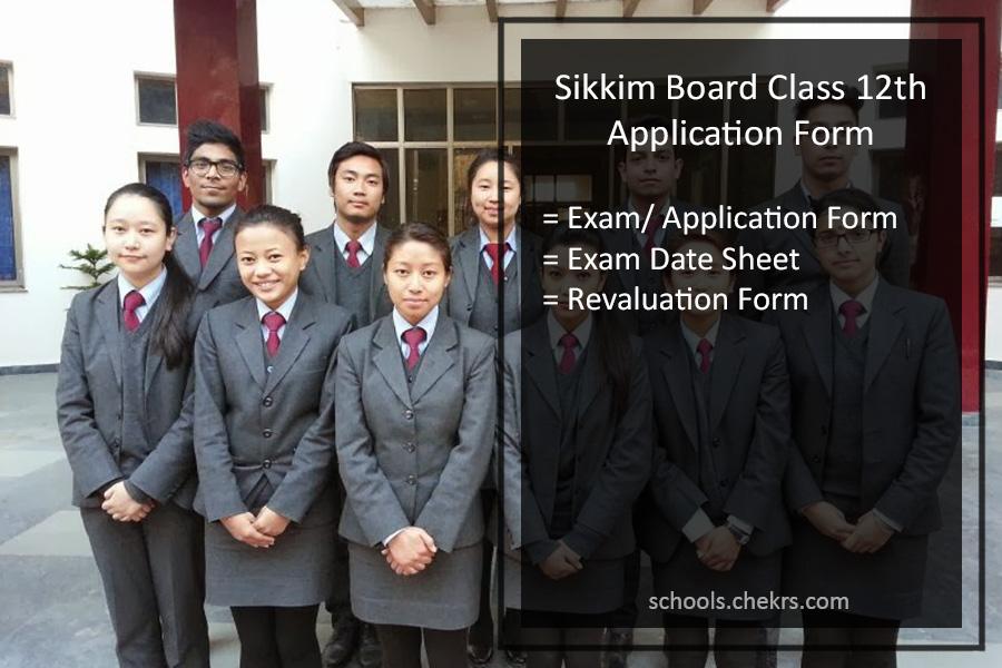 Sikkim Board 12th Online Application Form Exam Registration