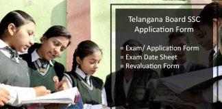 Telangana SSC Application Form, TS Board 10th Registration