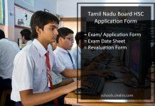 Tamil Nadu HSC Exam Application Form, TN Board 12th Registration