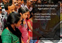 TS Board Intermediate Application Form, 12th Class Registration