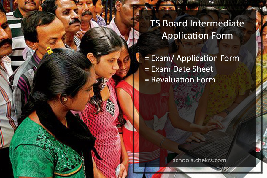 TS Board Intermediate Application Form, 12th Class Registration