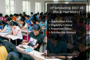 UP Scholarship, Pre & Post Matric Application Form, Dates