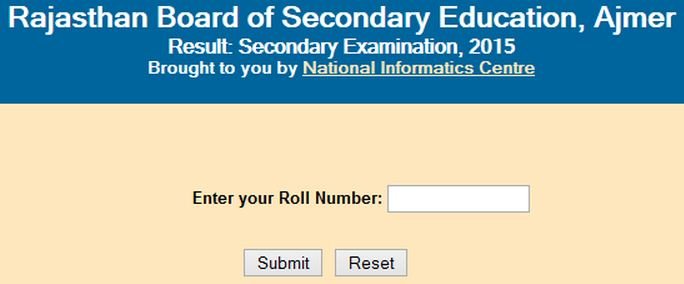 Rajasthan Ajmer Board 10th Result 2017- rajeduboard (RBSE) 10th Result