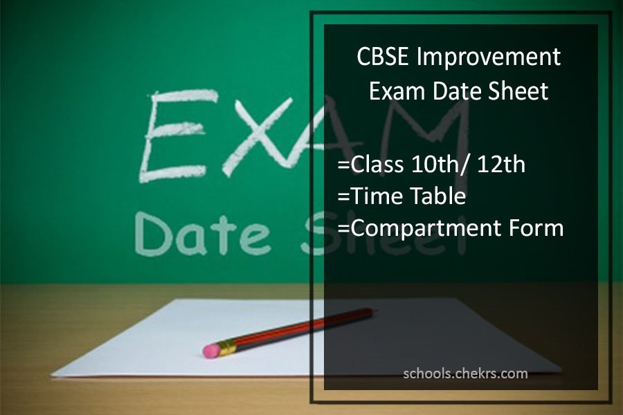 CBSE Improvement Exam Date Sheet 2017- 10th 12th Compartment Exam Form