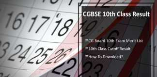 CGBSE 10th Class Result- CG Board 10th Exam Results, cgbse.net