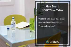 Goa Board HSSC Time Table- GBSHSE 12th Exam Date Sheet