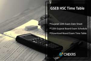 GSEB HSC Time Table- Gujarat Board 12th DATE SHEET @gseb.org
