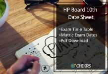 HP Board 10th Date Sheet- hpbose.org Matric Exam Date Sheet
