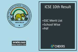 ICSE 10th Result, cisce.org SSC Results, Merit School Wise