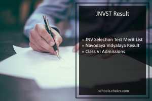 JNVST Result - Navodaya Vidyalaya Selection Test (6th Class) Result (Released)