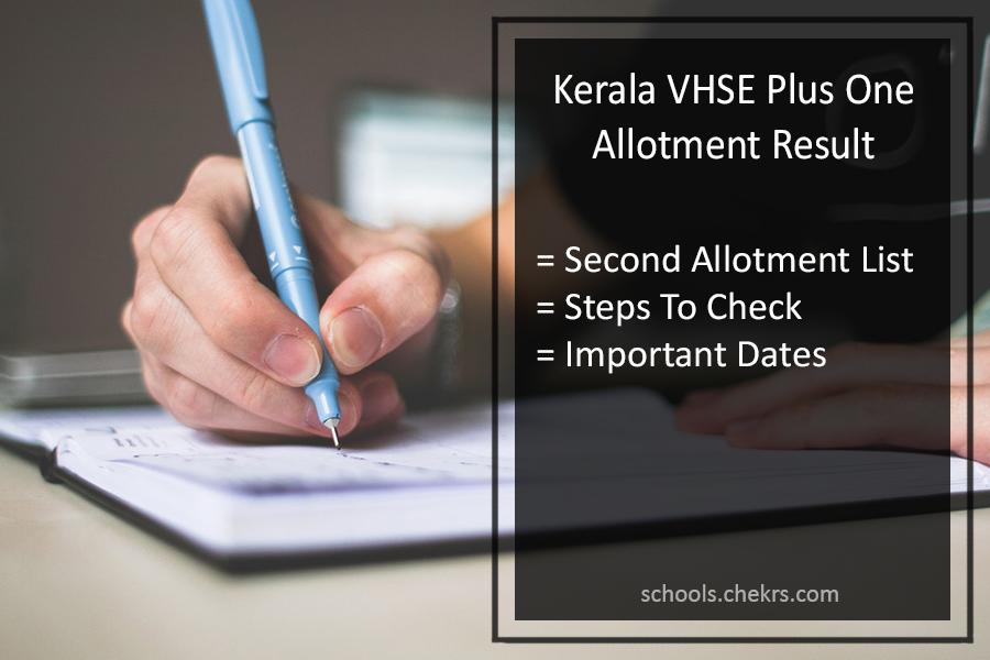 Kerala Vhse Second Allotment 2018 Vhscap Plus One 1