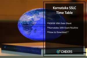 Karnataka SSLC Time Table- kseeb.kar.nic.in 10th Date Sheet
