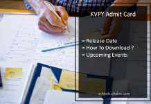 KVPY Admit Card Download- kvpy.iisc.ernet.in Hall Ticket, Call Letter