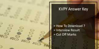 KVPY Answer Key - {SA SB SX} Streams Paper Solution, Cut Off Marks