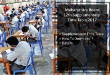 Maharashtra Board HSC Supplementary Time Table @MSBSHSE