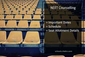 NEET Counselling 2017 Dates, Registration, Procedure, 1st 2nd Seat Allotment Schedule