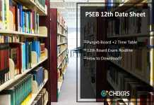PSEB 12th Date Sheet- Punjab Board +2 Time Table