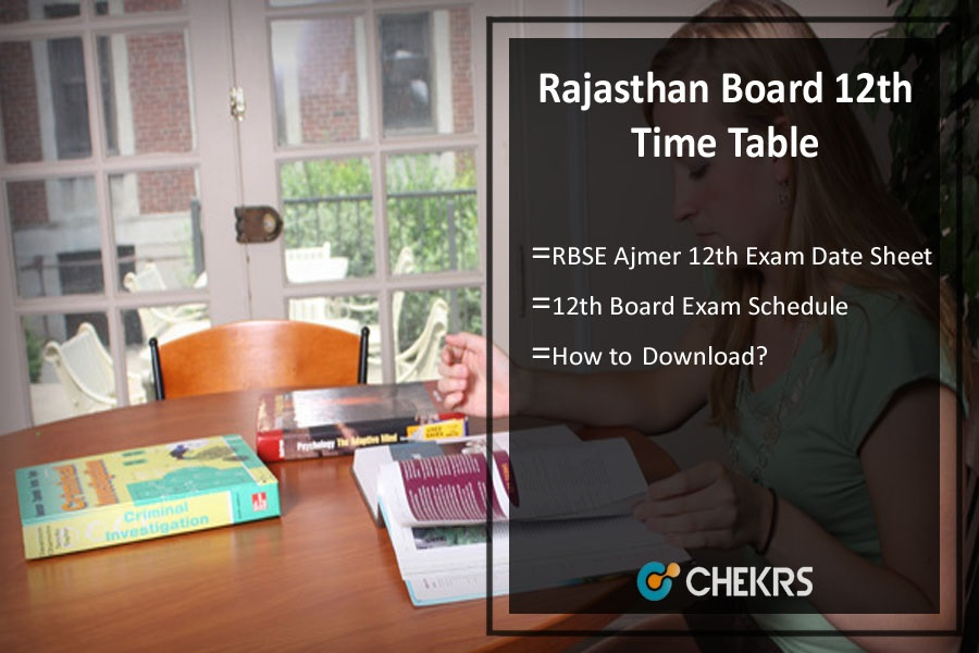 Rajasthan board 12th time table 2018 rbse ajmer 12th date for 8th board time table