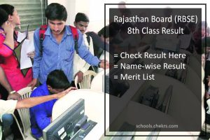 Rajasthan Board (RBSE) 8th Result, BSER Ajmer Board 8th Class Result