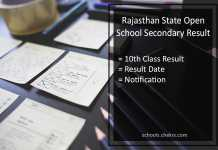Rajasthan Open School (RSOS) Jaipur 10th Result @education.rajasthan.gov.in