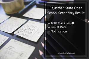 Rajasthan Open School (RSOS) Jaipur 10th Result @education.rajasthan.gov.in