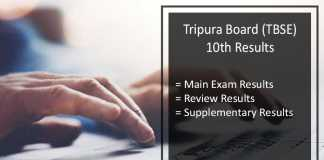 TBSE Madhyamik Review Result, Tripura 10th Class Scrutiny