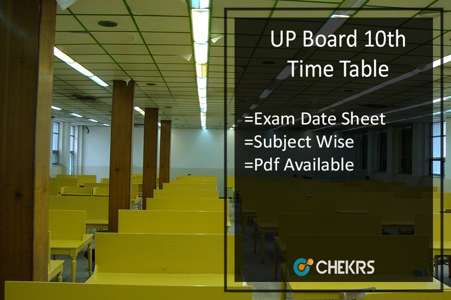 Up 10th time table 2018 pdf uttar pradesh board high for Up board 10th time table