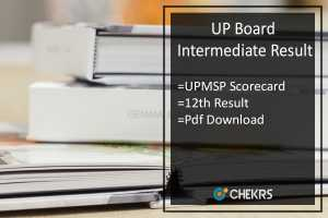 UP Board Intermediate Result- UPMSP 12th Class Results