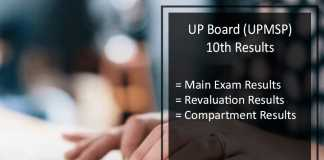 UP Board High School Compartment Result @upresults.nic.in
