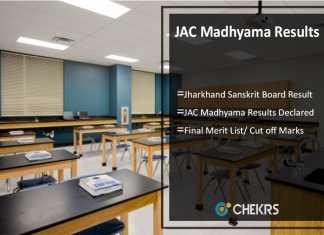 JAC Madhyama Results Declared- Jharkhand Sanskrit Board Result @jac.nic.in
